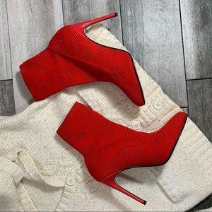 {ASOS} socked stretch booty heels